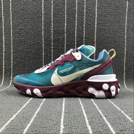 Cheapest Wholesale Nike React Element 87 Undercover Purple Red [eacock Blue Violet Rouge Paon Bleu - www.wholesaleflyknit.com